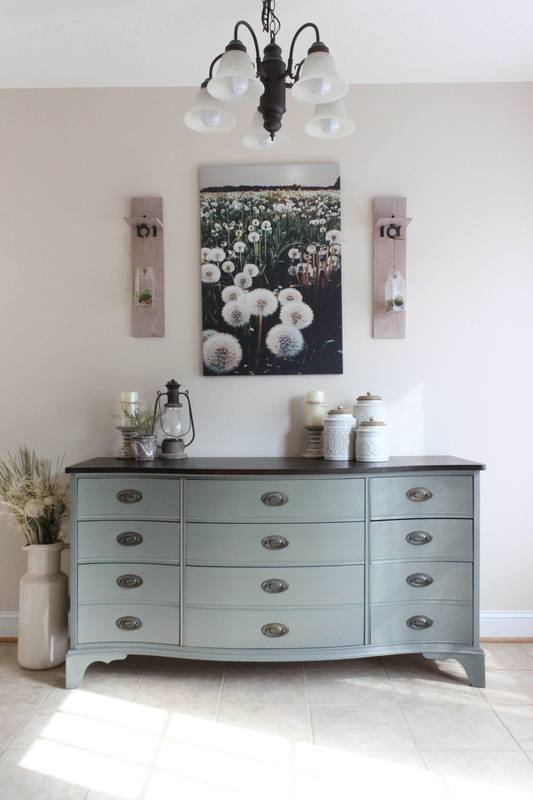 We Wanted To Try A New Paint Color Called Cast Iron By Sherwin Williams And This Dresser Was Perfect For The Test